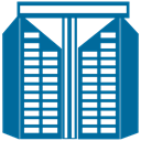 Building, city, Construction, Estate, house, real Teal icon