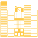 Building, city, Construction, house, real, Estate SandyBrown icon
