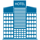 Building, hotel, tower, skyscraper Teal icon