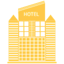 hotel, tower, skyscraper, Building SandyBrown icon