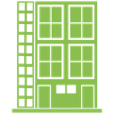 skyscraper, Building, hotel, tower YellowGreen icon
