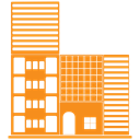 Building, hotel, tower, skyscraper DarkOrange icon