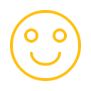 Face, happy, good, smile, Avatar, mood Black icon