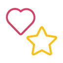 Heart, Favourite, special, rate, rating, star, bookmark Black icon
