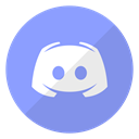 Logo, website, Discord CornflowerBlue icon