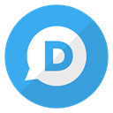 Logo, website, Disqus DodgerBlue icon