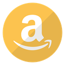 Logo, buy, Articles, Amazon, website, items SandyBrown icon