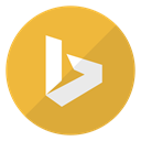 microsoft, search, Logo, Bing, search engine Goldenrod icon