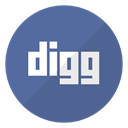 Logo, Digg, website SteelBlue icon