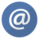 Email, Message, mail, Arobase SteelBlue icon