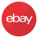 Logo, buy, Ebay, website, items Crimson icon