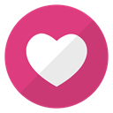Weheartit, Heart, Logo, website MediumVioletRed icon