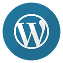 website, Logo, Wordpress DarkCyan icon