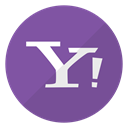 Company, search engine, Logo, yahoo, website SlateBlue icon