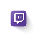 Logo, Twitch Black icon