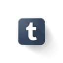 Logo, Tumblr Black icon