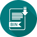 Extension, Bin, Folder, document, paper Teal icon