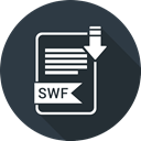 Folder, document, paper, swf, Extension DarkSlateGray icon