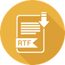 document, paper, Extension, Rtf, Folder Goldenrod icon