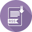 Rss, document, paper, Extension, Folder LightSlateGray icon