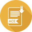 document, Ace, File, Format, type Goldenrod icon