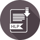 hlp, File, Format, type, document DarkSlateGray icon