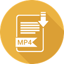 type, Mp4, document, File, Format Goldenrod icon