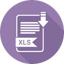 File, xls, file format, Extensiom SlateGray icon