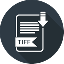File, Tiff, file format, Extensiom DarkSlateGray icon