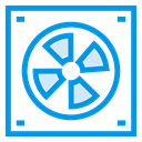 Server, Database, professional, Air, Blower, hardware, Accessories DodgerBlue icon