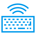 Keyboard, Multimedia, Computer, hardware, wireless, Accessories, typing DodgerBlue icon