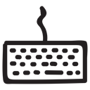 media, Keyboard, Apple, hardware, product, technology, typing Black icon