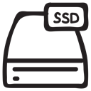 Server, Device, card, hardware, Data, storage, Ssd Black icon