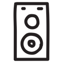 announcement, megaphone, Loudspeakers, speaker, volume, voice, sound Black icon