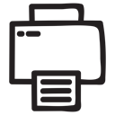 document, Print, printer, Computer, equipment, electronics, printing Black icon