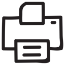 printsetting, Print, printer, machine, papper, outline, Photocopy Black icon