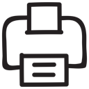 document, Print, printer, Computer, office, outline, networkprinter Black icon