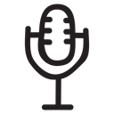 Microphone, mic, sound, speak, record, Audio, voice Black icon