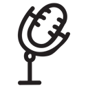 sound, record, Audio, voice, Microphone, Conference, mic Black icon