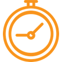 Clock, time, Alarm, watch, hour, alarm clock DarkOrange icon