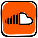 media, music, Audio, Social, Soundcloud, audio distribution, music streamming OrangeRed icon