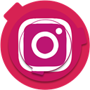 media, photo, social media, Social, Instagram, insta, socialmedia Crimson icon