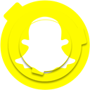 media, network, Logo, Social, snap, Snapchat, socialmedia Yellow icon