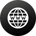 long shadow, High Quality, Black white, Gradient, Circle, website, www Icon