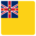 flag, niue Gold icon