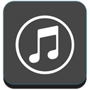 Apple, Note, itunes DarkSlateGray icon