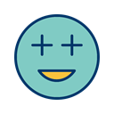 Face, smiley, Emoticon, positive MediumAquamarine icon