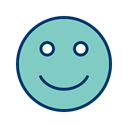 Face, happy, smiley, Emoticon MediumAquamarine icon