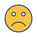 Face, smiley, Emoticon, sad SandyBrown icon