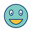 Face, smile, Emoticon, laughing MediumAquamarine icon